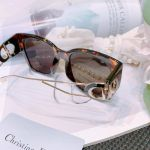 Christian Dior 30 Montaigne 1 Square Dark Havana Brown Màu Đồi Mồi