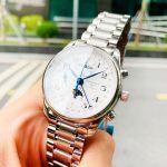 Longines Master Collection Automatic Chronograph Trăng Sao Màu Bạc L2.673.4.78.6