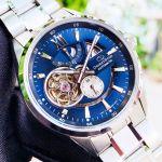 Orient Star Automatic Jocker Mặt Xanh Blue Dây Kim Loại Màu Bạc SDK05002D0