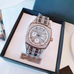 Bulova Crystal Day Date Silver Full Đá Màu Bạc 96C002