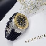 Versace Chain Reaction Unisex Mặt Đen Dây Silicon Màu Đen VEHD00120