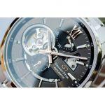 Orient Star Automatic Mặt Tròn Màu Xám Dây Kim Loại Màu Bạc RE-AV0004N00B