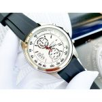 Seiko Chronograph Mặt Tròn Màu Trắng Dây Cao Su Màu Đen Lịch Ngày SNN259P1