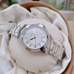 Bulova Crystal Silver Dây Kim Loại Màu Bạc 98L175
