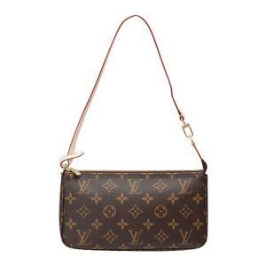Louis Vuitton Pochette Accessoires Kẹp Nách Màu Nâu Monogram