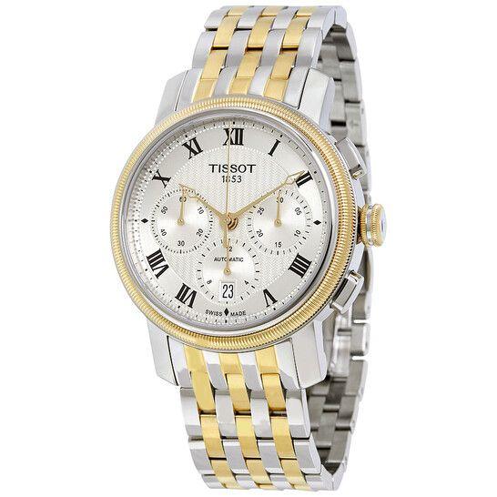 Tissot Bridgeport Chronograph Automatic Mặt Trắng Dây Kim Loại T097.427.22.033.00
