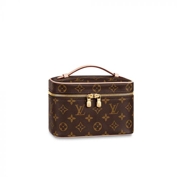 Louis Vuitton Nice Mini Màu Nâu Quai Xách M44495