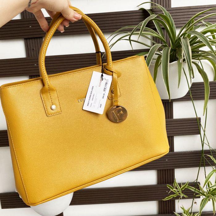 Furla Linda Tote Size S Màu Vàng Ginestra 988617-BBDR5