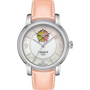 Tissot Lady Heart Flower Mặt Trắng Vạch Số Dây Da Hồng T050.207.16.117.0