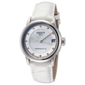 Tissot T-Classic Automatic Mặt Tròn Dây Da Trắng T086.207.16.116.00