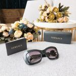 Versace Square Sunglasses Lenses Nâu Gọng Đen VE4328