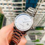 Tissot Luxury Automatic Mặt Tròn Dây Kim Loại Màu Bạc Lịch Ngày T086.407.11.031.00