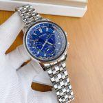 Citizen Calendrier Eco-Drive World Time Dark Blue Mặt Tròn Dây Kim Loại BU2021-51L