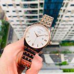Orient Contemporary Automatic Demi Vàng Hồng Mặt Tròn Màu Trắng Dây Kim Loại Lịch Ngày Thứ RA-AX0001S