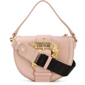 Versace Jeans Couture Baroque-buckle Tote Bag In Pink