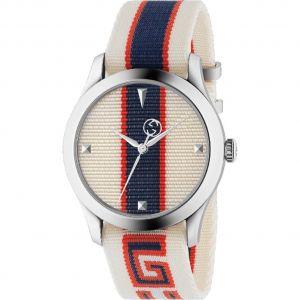 Gucci G-Timeless Quartz Mặt Tròn Dây Nato YA1264071