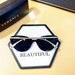 Versace Sunglasses Transparent Mắt Đen Gọng Kim Loại Màu Bạc VE4351