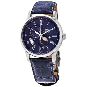 Orient Sun And Moon Gen 3 Dây Da Xanh Blue FAK00005D0