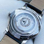 Montblanc 4810 Automatic Mặt Tròn Viền Bạc Dây Da Màu Đen Lịch Ngày Thứ 115936