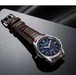Citizen Brycen World Time Mặt Xanh Dây Da Nâu BX1000-06L