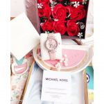 Michael Kors Parker Pavé Rose Mặt Tròn Khảm Trai Dây Da Màu Hồng MK6808