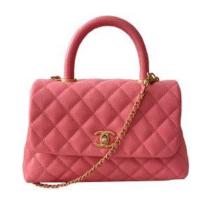 Chanel Coco Mini Top Handle Handbag Pink Màu Hồng