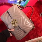 Gucci GG Marmont top handle Màu Hồng Dusty Pink Size Small