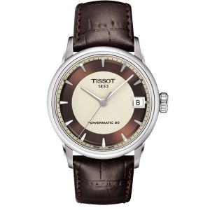 Tissot T-Classic Powermatic 80 Mặt Tròn Dây Da Nâu T086.207.16.261.00