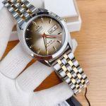 Orient Tri Star Automatic Brown Mặt Màu Vàng Nâu Dây Kim Loại Demi RA-AB0031G19B