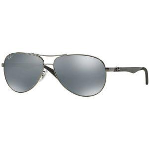Ray-ban Polarized Silver Mirror Aviator Men's Sunglasses RB8313 004/K6