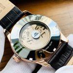 Orient Contemporary Automatic Viền Vàng Hồng Dây Da Màu Nâu FAL00004W0