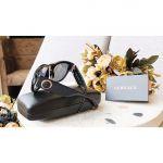 Versace Sunglasses Mắt Vuông Gọng Nhựa Màu Đen VE4356