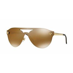 Versace Brown Mirror Gold Sunglasses Gọng Kim Loại VE2161 136/00/145