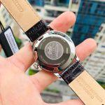 Orient Bambino Automatic Mặt Tròn Màu Trắng Dây Da Màu Nâu Lịch Ngày AC00009W