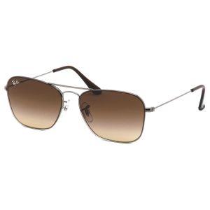 Ray-ban Sunglasses Mắt Vuông Màu Nâu Gọng Kim Loại RB3603 004/13